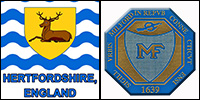Deacon Richard Miles II & Catherine Elithorpe - Milford Seal - Hertfordshire Flag