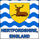 Flag of Hertfordshire, England