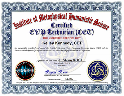 Kelley Kennedy EVP Certification IMHS CET